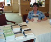 Elaine Luddy Klonicki at a book signing at The Heritage in Raliegh, NC